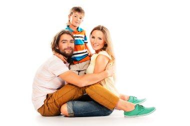 family on floor