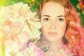 V květech