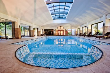Covered winter pool. SPA