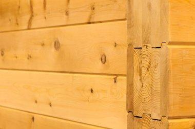 natural wood wall houses from glued beams