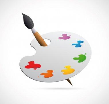 Painters palette cartoon