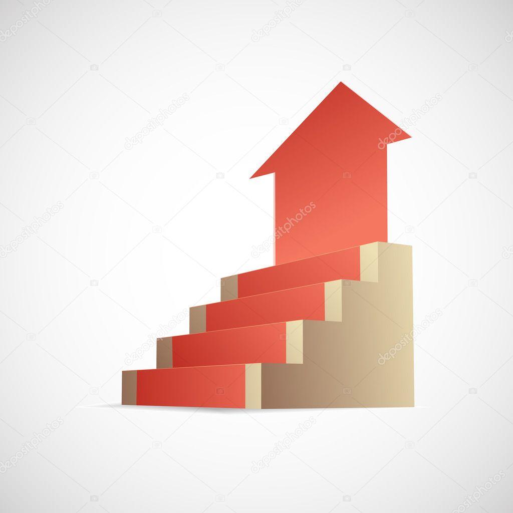 Steps to success metaphor