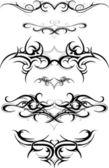 Fotografia set di tatuaggio tribale