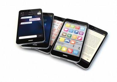 five smartphones