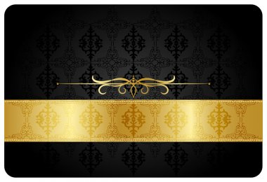 Gold ribbon greeting card