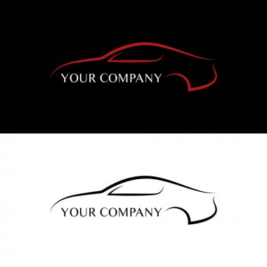 Red and black car logos stock vector