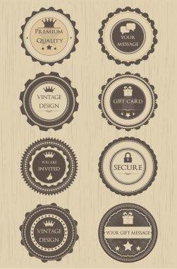 Retro badges