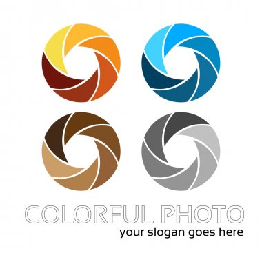 Creative photo lens logo work