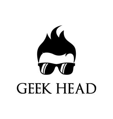 Geek person logo template