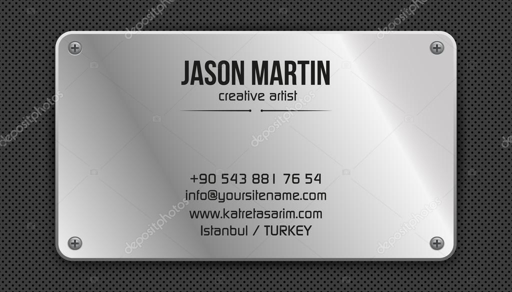 Carte De Visite Metallique Grunge Illustration Stock