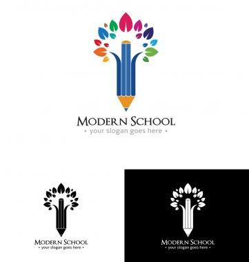 Modern school logo template