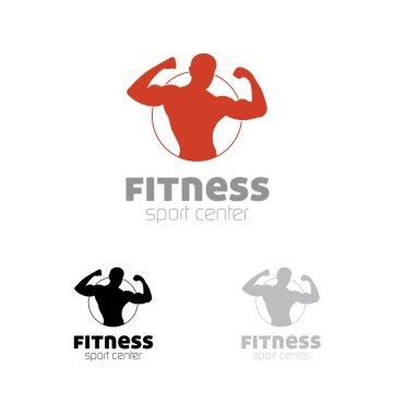 Fitness sport center logo