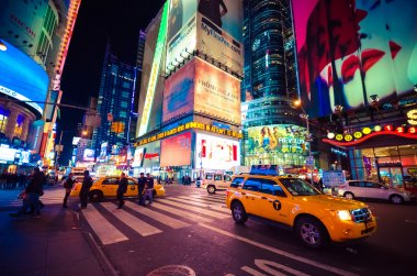 Times Square, featured with Broadway Theaters and LED signs