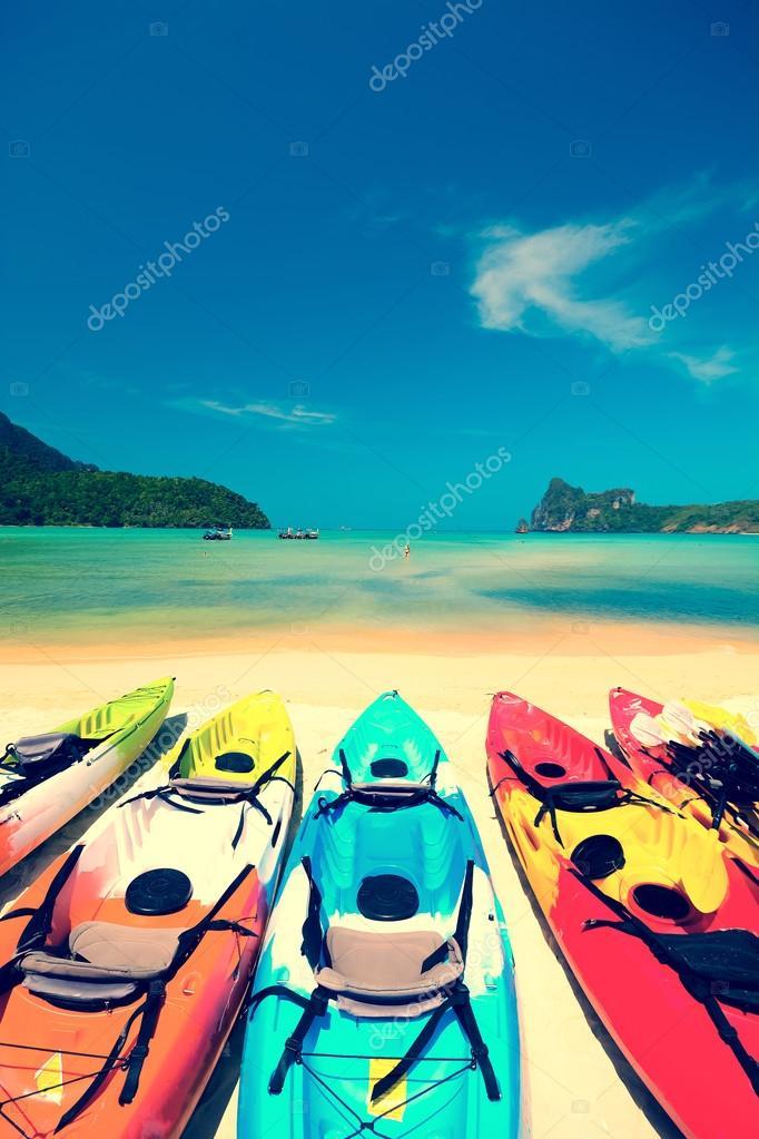 Kayak in beautiful beach in Thailand