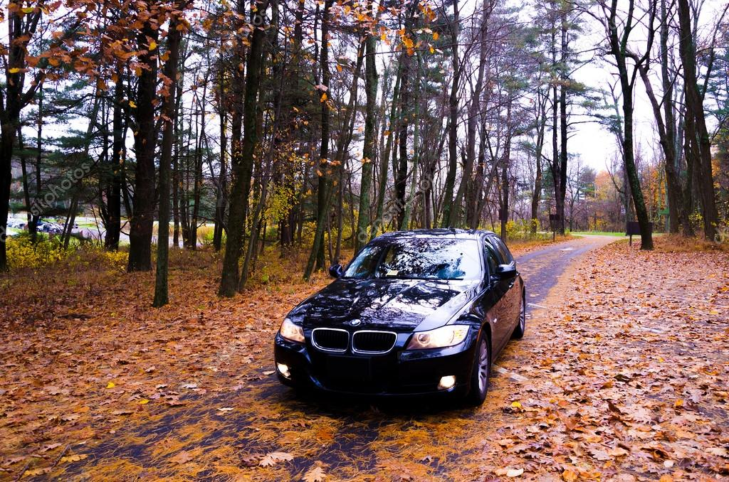 VIRGINIA, USA - OCTOBER 20, 2012: Photo of BMW 3 Series at skyline drive in Virginia, USA.