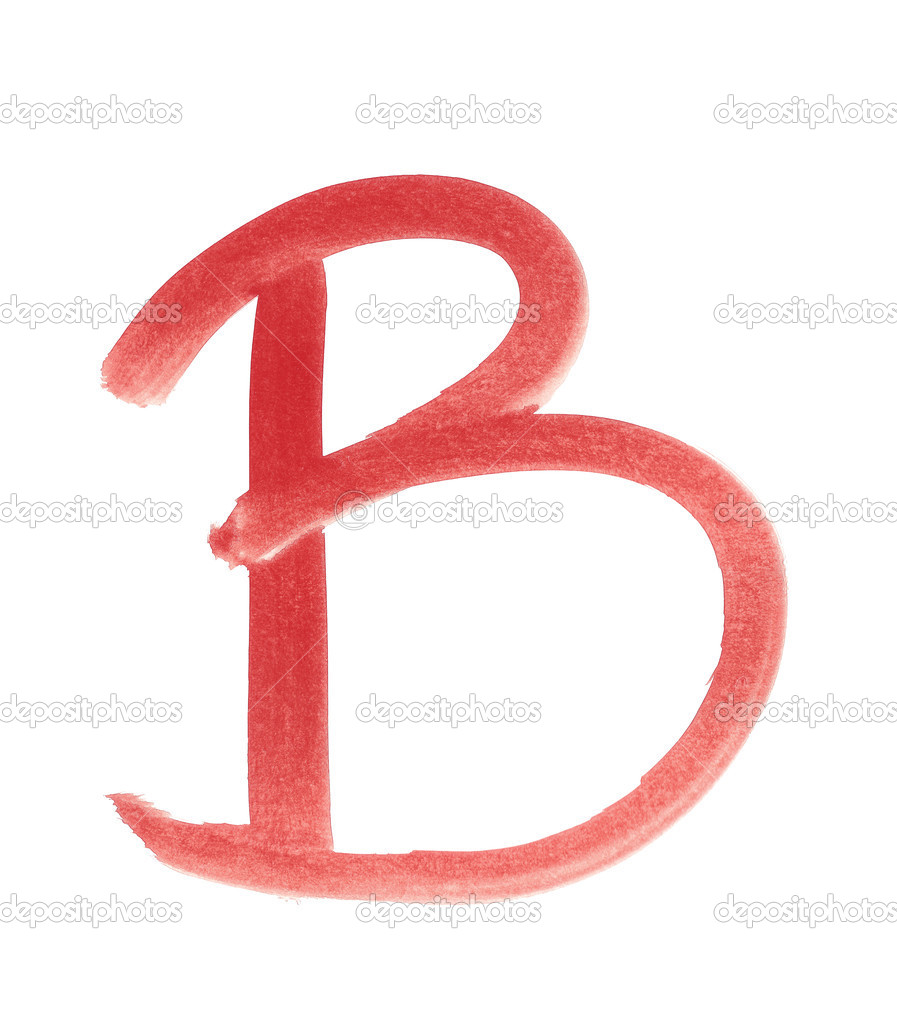 b - rot handschriftlichen Brief — Stockfoto © ibreakstock #31445163