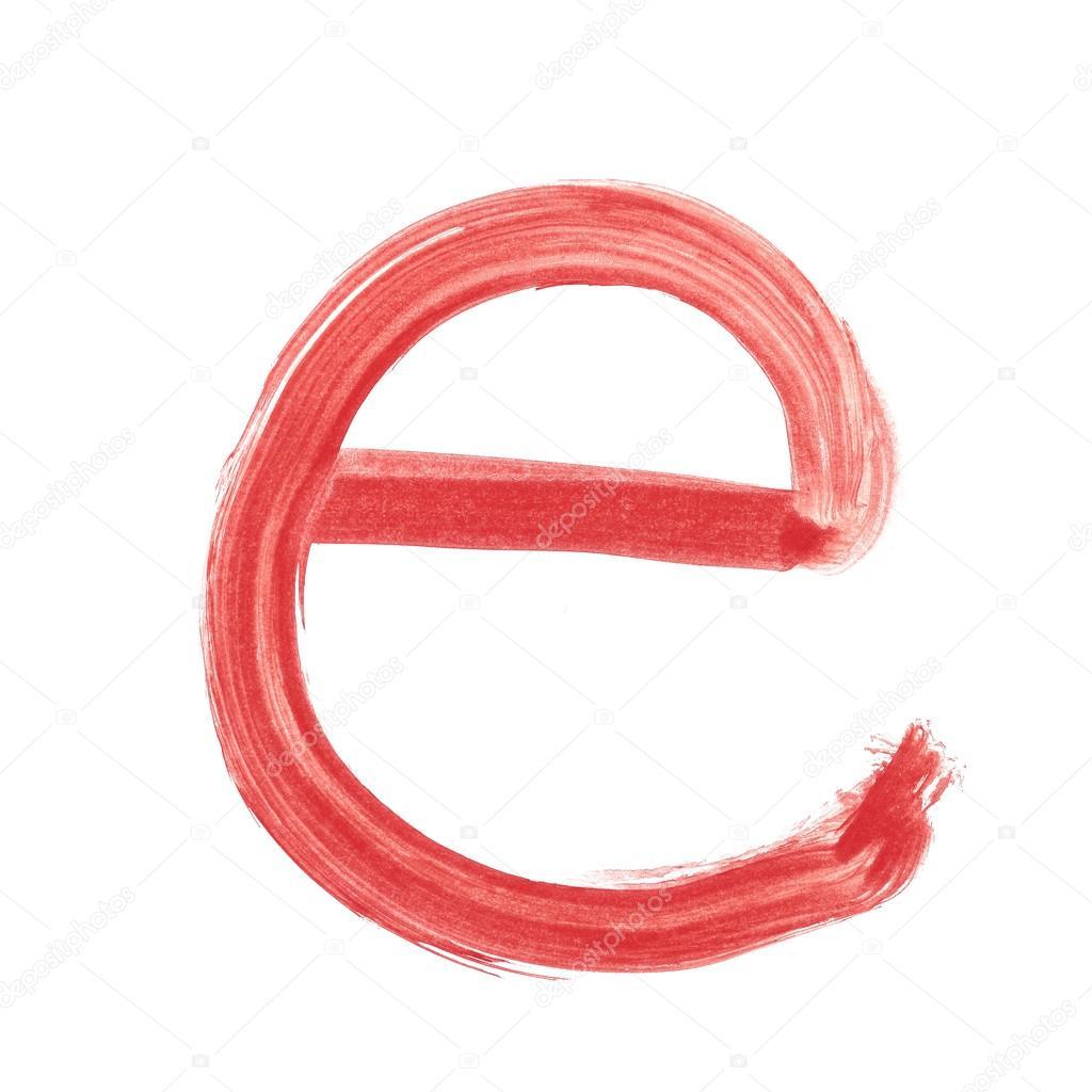 e red handwritten letter lower case u2014 stock photo ibreakstock