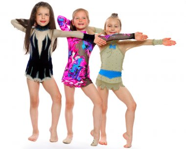 Little beautiful gymnasts