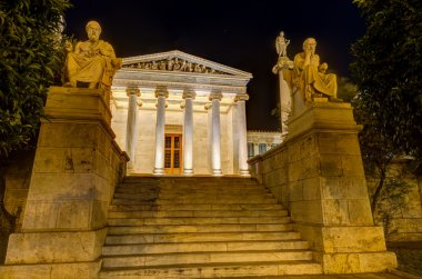 Academy of Athens at night, Greece