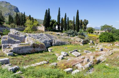 Roman Odeum of Ancient Corinth, Peloponnese, Greece