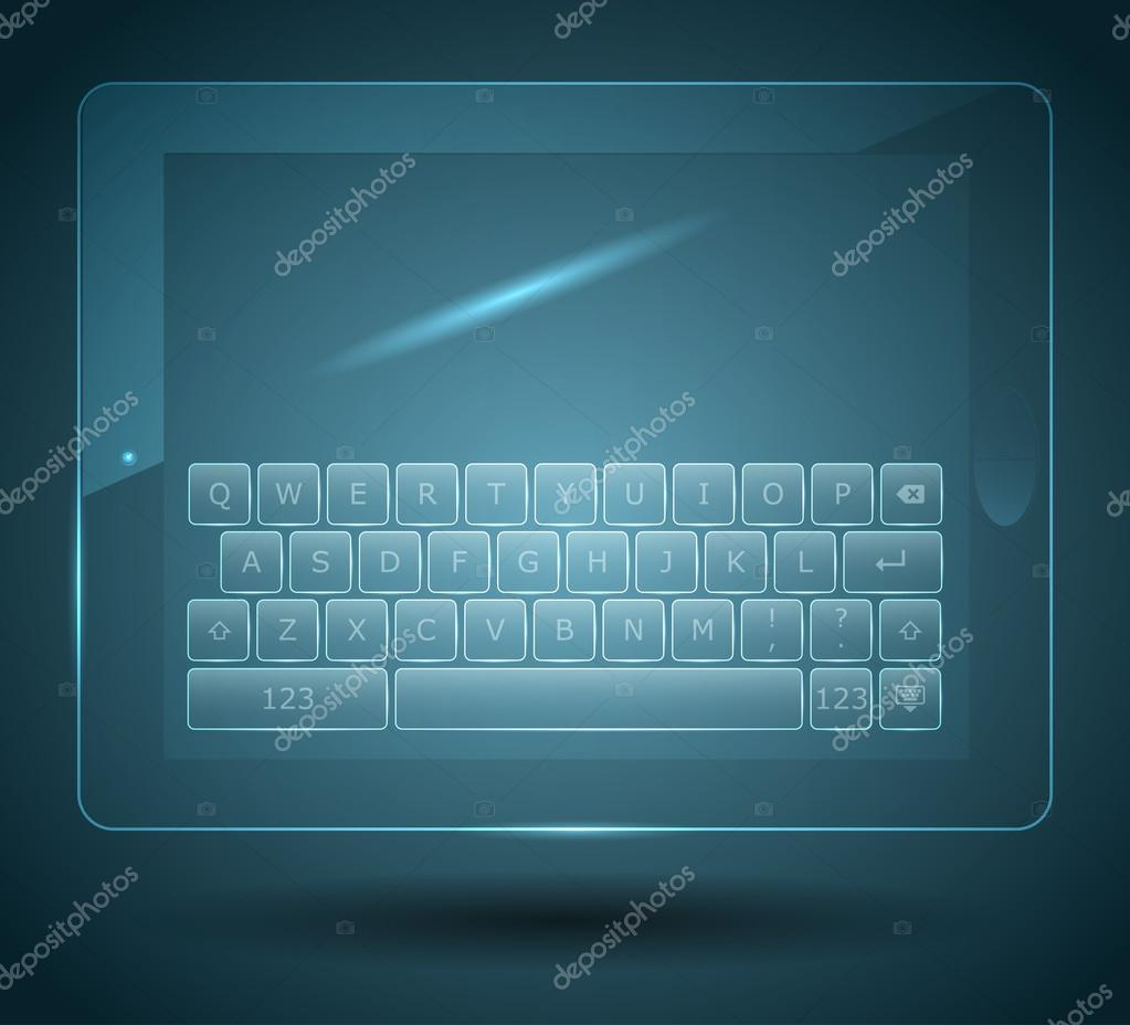 Virtual keyboard for tablet and smartphone — Stock Vector