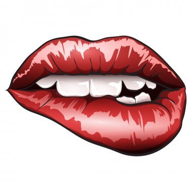 Vector glossy lips stock vector