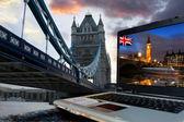 Slavný tower bridge, Londýn, Velká Británie