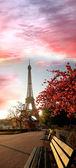 Eiffel-torony, a tavaszi idő, Párizs, Franciaország