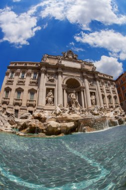 Famous Trevi Fountain in Rome, Italy