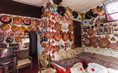 Fotografie Typical interior of traditional house in ancient city of Jugol. Harar. Ethiopia.