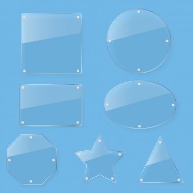Clear tint glass plate set