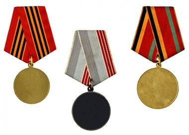 Collection of templates of medals