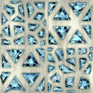 Gems. Seamless background