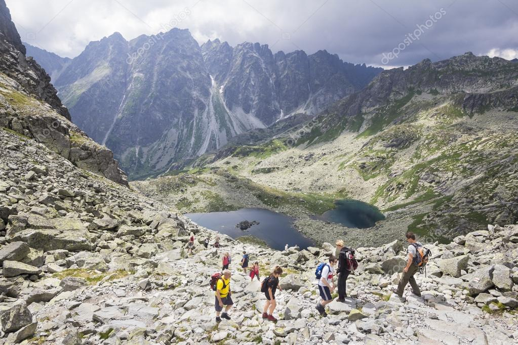 Path to summit of Rysy in theTatra mountains, Slovakia