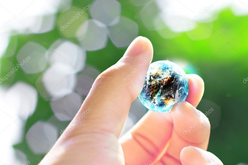 Hand hold small world