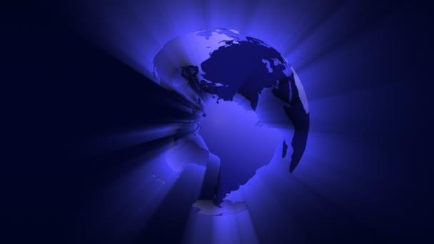 glänzender Globus