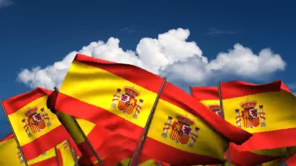 spanyol zászló integet