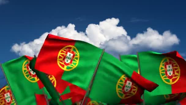 integetett a portugál zászlók