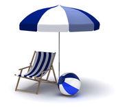 Fotografie Liegestuhl und Sonnenschirm
