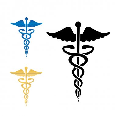 Caduceus medical symbol vector illustration.eps10 stock vector