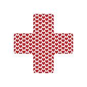Fotografia forma di croce con cuori medica per il vostro disegno