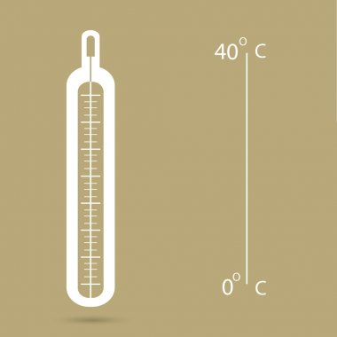 Medical thermometer web icon .