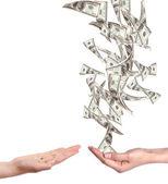 bohaté a chudé koncept s penězi