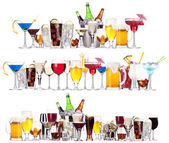 A különböző alkoholos italokat és koktélokat készlet