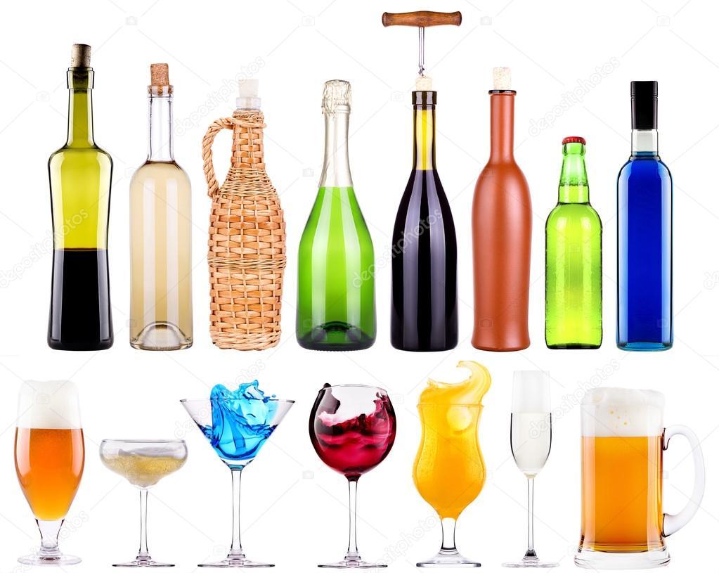 Legen Sie alkoholische Getränke mit Schuss — Stockfoto © boule1301 ...