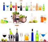 alcol diversi set di bevande