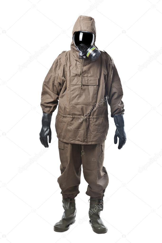 Man in Hazard Suit