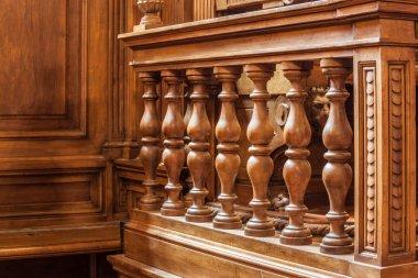 Wooden banister