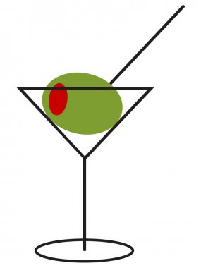 Martini with extra large Olive