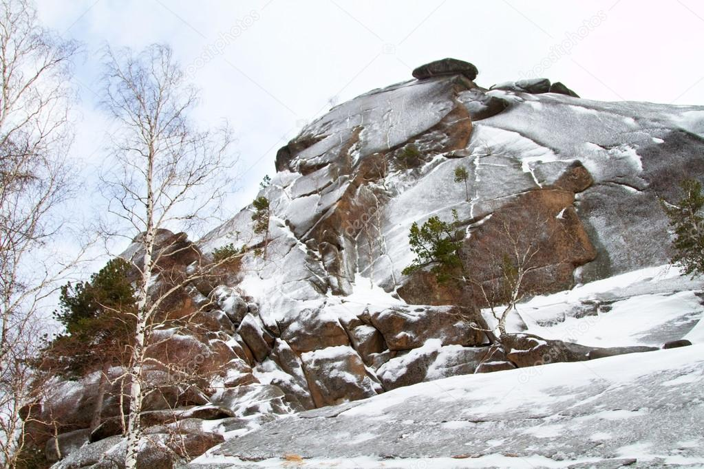 Rock formations in the Krasnoyarsk National Park